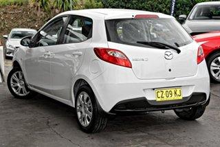2012 Mazda 2 DE10Y2 MY12 Neo White 4 Speed Automatic Hatchback.