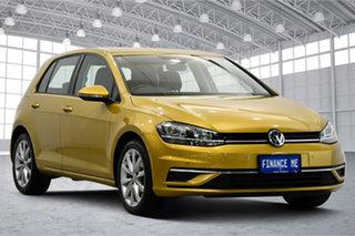 2017 Volkswagen Golf 7.5 MY17 110TSI DSG Comfortline Yellow 7 Speed Sports Automatic Dual Clutch.