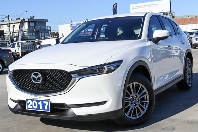Used Mazda CX-5 KF4WLA Maxx SKYACTIV-Drive i-ACTIV AWD Sport Coburg North, 2017 Mazda CX-5 KF4WLA Maxx SKYACTIV-Drive i-ACTIV AWD Sport White 6 Speed Sports Automatic Wagon