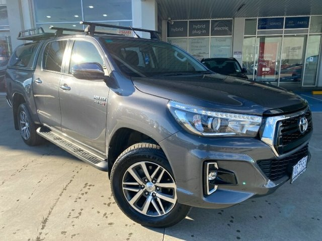 Used Toyota Hilux GUN126R SR5 Double Cab Ravenhall, 2019 Toyota Hilux GUN126R SR5 Double Cab Grey 6 Speed Sports Automatic Utility