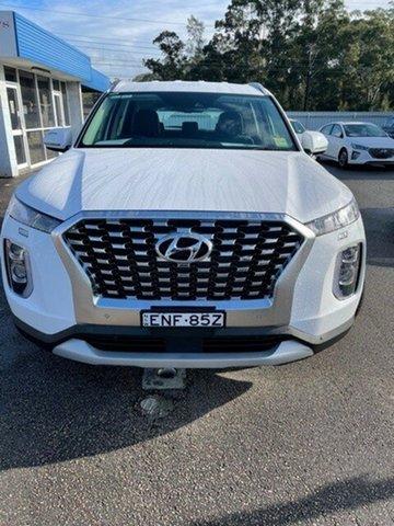 Demo Hyundai Palisade LX2.V1 MY21 2WD North Gosford, 2020 Hyundai Palisade LX2.V1 MY21 2WD White Cream 8 Speed Sports Automatic Wagon