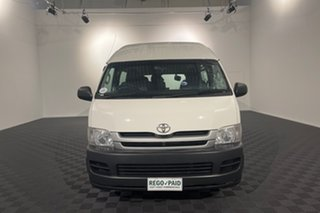 2008 Toyota HiAce TRH223R MY08 Commuter High Roof Super LWB White 4 speed Automatic Bus.
