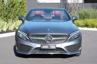2016 Mercedes-Benz C-Class A205 C200 9G-Tronic Grey 9 Speed Sports Automatic Cabriolet.