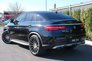 2016 Mercedes-Benz GLE-Class C292 GLE450 AMG Coupe 9G-Tronic 4MATIC Black 9 Speed Sports Automatic.
