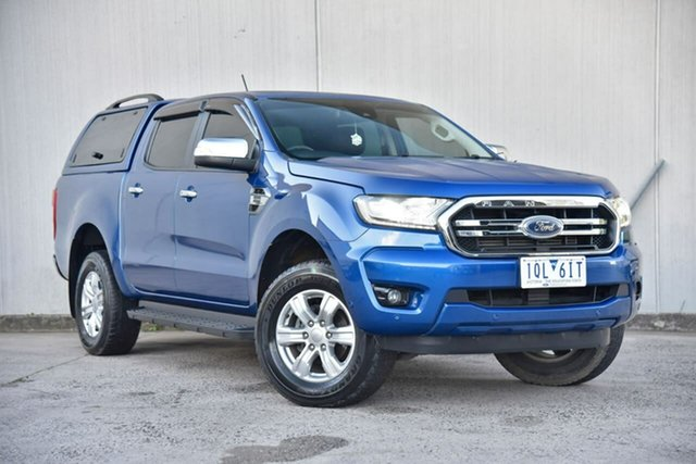Used Ford Ranger PX MkIII 2019.75MY XLT Oakleigh, 2019 Ford Ranger PX MkIII 2019.75MY XLT Blue 10 Speed Sports Automatic Super Cab Pick Up