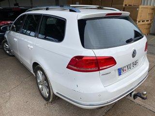 2010 Volkswagen Passat Type 3C MY10.5 118TSI DSG White 7 Speed Sports Automatic Dual Clutch Wagon.