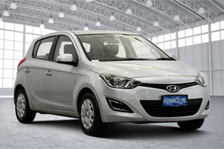 2013 Hyundai i20 PB MY14 Active Sleek Silver 4 Speed Automatic Hatchback.