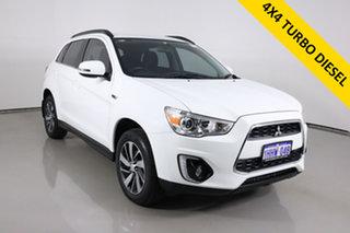 2014 Mitsubishi ASX XB MY14 (4WD) White 6 Speed Automatic Wagon.