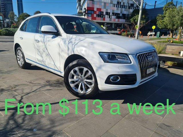 Used Audi Q5 8R MY15 TFSI Tiptronic Quattro South Melbourne, 2015 Audi Q5 8R MY15 TFSI Tiptronic Quattro White 8 Speed Sports Automatic Wagon