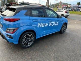 2020 Hyundai Kona Os.v4 MY21 N-Line D-CT AWD Premium Surfy Blue & Black Roof 7 Speed