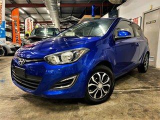 2014 Hyundai i20 PB MY14 Active Metallic Blue 4 Speed Automatic Hatchback.