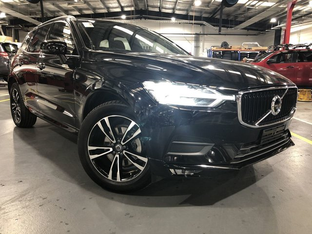 Pre-Owned Volvo XC60 UZ MY19 T5 AWD Momentum Oakleigh, 2018 Volvo XC60 UZ MY19 T5 AWD Momentum Black 8 Speed Sports Automatic Wagon