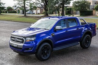 2016 Ford Ranger PX MkII XLS Double Cab Blue 6 Speed Sports Automatic Utility