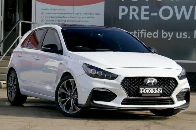 Pre-Owned Hyundai i30 PD.3 MY20 N Line Premium Guildford, 2019 Hyundai i30 PD.3 MY20 N Line Premium White 7 Speed Auto Dual Clutch Hatchback