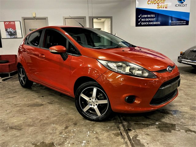 Used Ford Fiesta WT CL PwrShift Ashmore, 2011 Ford Fiesta WT CL PwrShift Metallic Orange 6 Speed Sports Automatic Dual Clutch Hatchback
