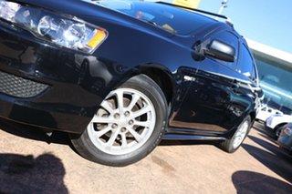 2010 Mitsubishi Lancer CJ MY10 ES Black 5 Speed Manual Sedan.