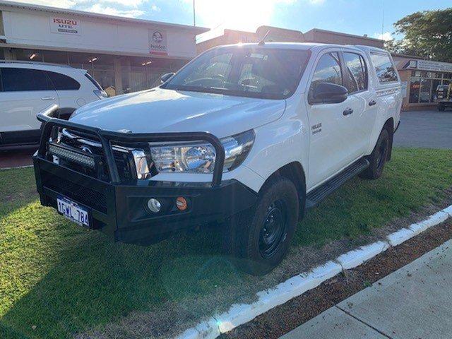 Used Toyota Hilux GUN126R SR (4x4) Katanning, 2018 Toyota Hilux GUN126R SR (4x4) White 6 Speed Automatic Dual Cab