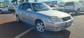 2005 Hyundai Accent LC MY04 GL Silver 5 Speed Manual Hatchback.