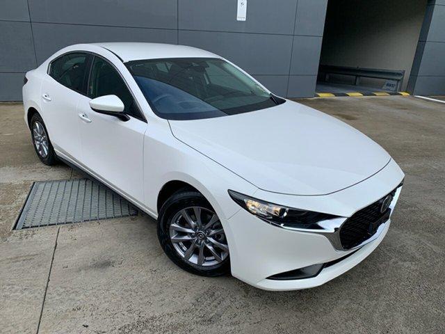 New Mazda 3 BP2S7A G20 SKYACTIV-Drive Pure Alexandria, 2021 Mazda 3 BP2S7A G20 SKYACTIV-Drive Pure Snowflake White 6 Speed Sports Automatic Sedan