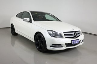 2013 Mercedes-Benz C250 C204 MY13 Sport BE White 7 Speed Automatic G-Tronic Coupe.