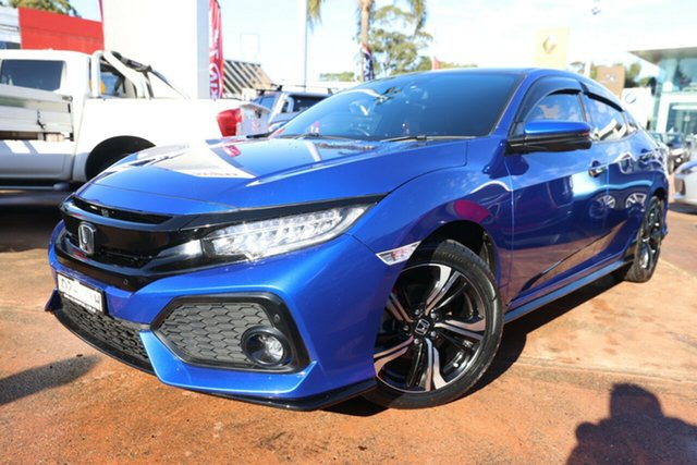 Used Honda Civic MY17 RS Brookvale, 2018 Honda Civic MY17 RS Blue Continuous Variable Hatchback