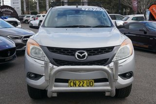 2012 Mazda BT-50 UP0YF1 GT Silver 6 Speed Sports Automatic Utility