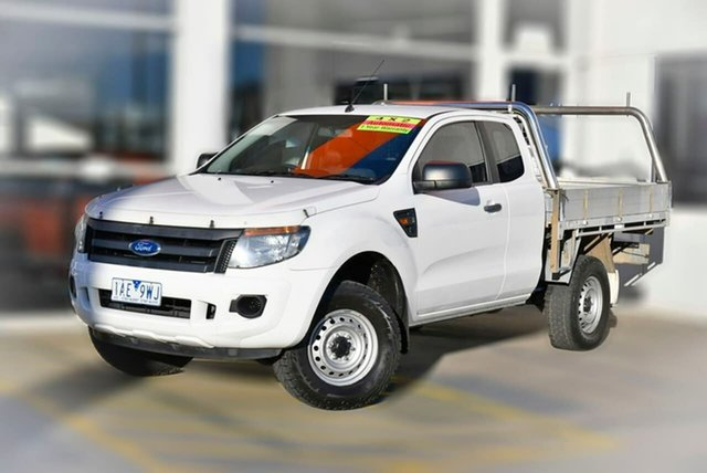 Used Ford Ranger PX XL Hi-Rider Berwick, 2013 Ford Ranger PX XL Hi-Rider White 6 Speed Sports Automatic Cab Chassis