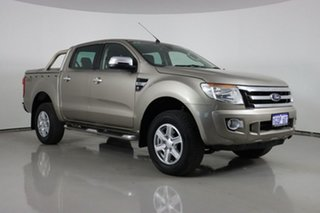 2012 Ford Ranger PX XLT 3.2 (4x4) Gold 6 Speed Automatic Double Cab Pick Up.