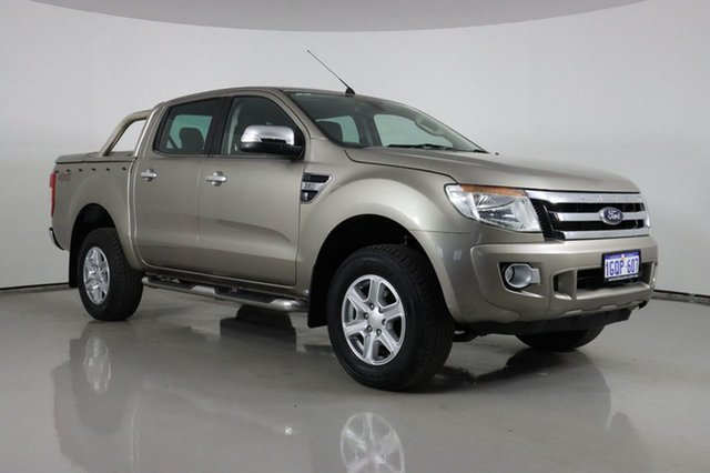 Used Ford Ranger PX XLT 3.2 (4x4) Bentley, 2012 Ford Ranger PX XLT 3.2 (4x4) Gold 6 Speed Automatic Double Cab Pick Up