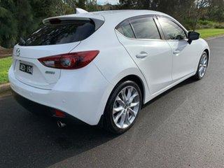 2015 Mazda 3 BM Series SP25 GT White Sports Automatic Hatchback.