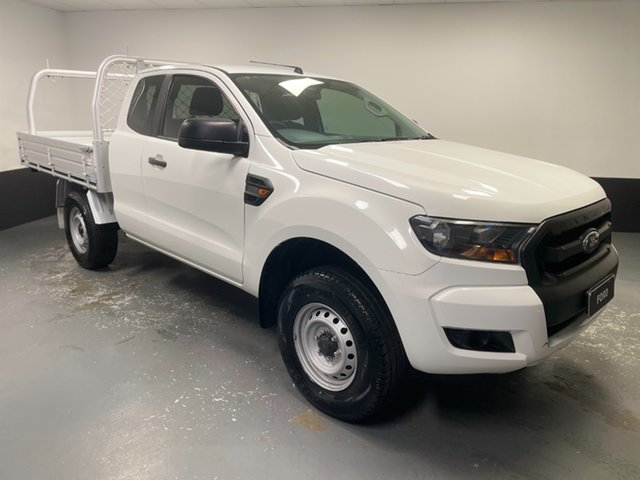 Used Ford Ranger PX MkII XL Hi-Rider Rutherford, 2015 Ford Ranger PX MkII XL Hi-Rider Cool White 6 Speed Sports Automatic Cab Chassis
