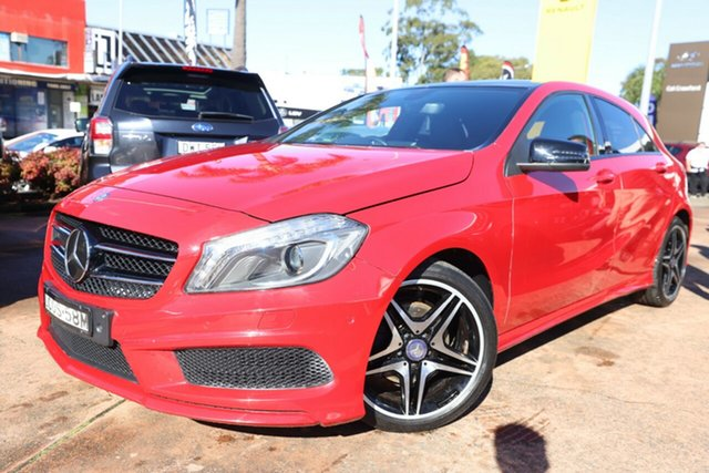 Used Mercedes-Benz A200 176 BE Brookvale, 2013 Mercedes-Benz A200 176 BE Red 7 Speed Automatic Hatchback