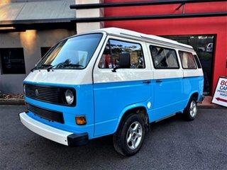 1989 Volkswagen Transporter T3 Window Blue & Cream 5 Speed Manual Van.