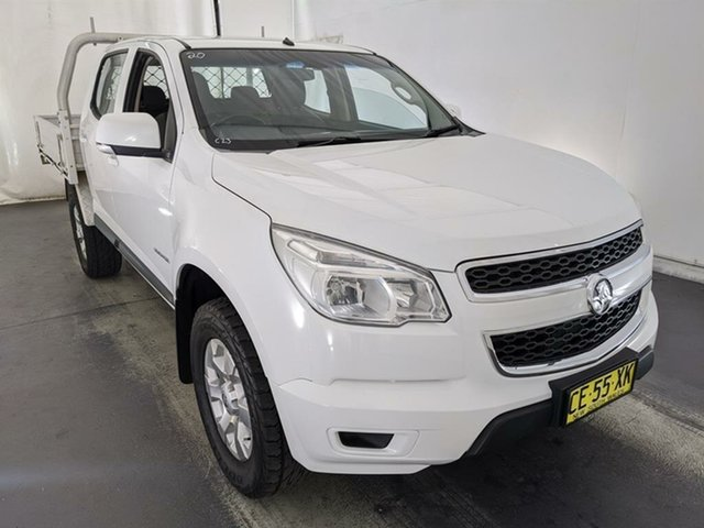 Used Holden Colorado RG MY15 LS Crew Cab 4x2 Maryville, 2015 Holden Colorado RG MY15 LS Crew Cab 4x2 White 6 Speed Sports Automatic Cab Chassis