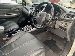 2015 Mitsubishi Triton MQ MY16 Exceed Double Cab White 5 Speed Sports Automatic Utility.