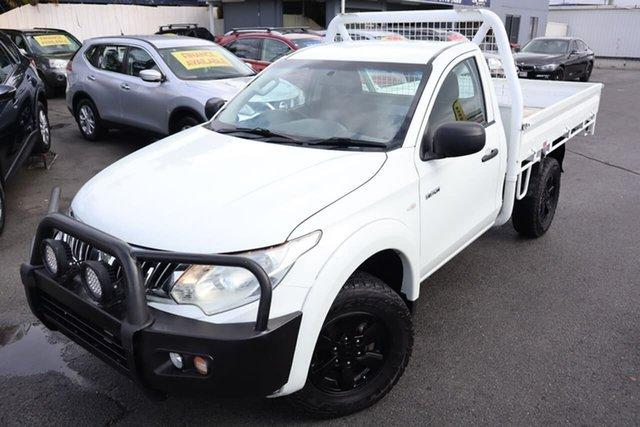 Used Mitsubishi Triton MQ MY16 GLX Moorooka, 2015 Mitsubishi Triton MQ MY16 GLX White 6 Speed Manual Cab Chassis