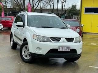 2008 Mitsubishi Outlander ZG MY08 LS White 6 Speed Constant Variable Wagon.