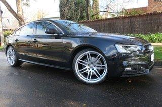 2012 Audi A5 8T MY13 Sportback S Tronic Quattro Black 7 Speed Sports Automatic Dual Clutch Hatchback.