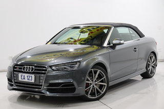 2014 Audi S3 8V MY15 S Tronic Quattro Grey 6 Speed Sports Automatic Dual Clutch Cabriolet.
