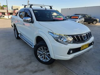 2015 Mitsubishi Triton MQ MY16 GLS Double Cab White 5 Speed Sports Automatic Utility.