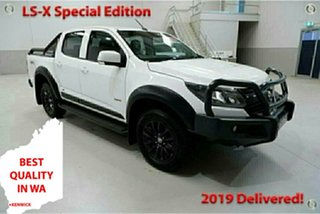 2018 Holden Colorado RG MY18 LS-X Special Edition White 6 Speed Automatic Crew Cab Utility.