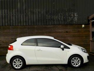 2014 Kia Rio UB MY14 S White 4 Speed Sports Automatic Hatchback.