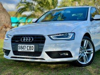 2013 Audi A4 B8 8K MY14 S Tronic Quattro White 7 Speed Sports Automatic Dual Clutch Sedan.