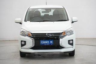 2020 Mitsubishi Mirage LA MY20 ES White 1 Speed Constant Variable Hatchback.