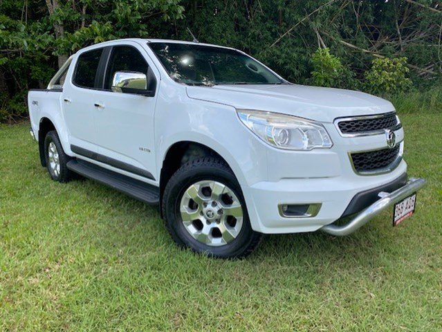 Pre-Owned Holden Colorado RG LTZ (4x4) Atherton, 2012 Holden Colorado RG LTZ (4x4) White 6 Speed Automatic Crew Cab Pickup