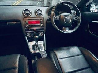 2012 Audi A3 8P MY13 Ambition Sportback S Tronic Quattro Black 6 Speed Sports Automatic Dual Clutch