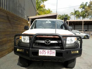2007 Mazda BT-50 UNY0E3 DX+ Freestyle White 5 Speed Manual Cab Chassis.