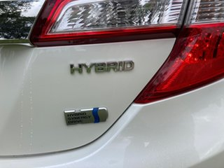 2013 Toyota Camry AVV50R Hybrid HL Pearl White Continuous Variable Sedan.