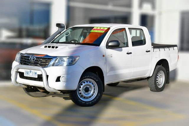 Used Toyota Hilux KUN26R MY14 SR Double Cab Berwick, 2014 Toyota Hilux KUN26R MY14 SR Double Cab White 5 Speed Automatic Utility