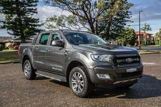 2017 Ford Ranger PX MkII Wildtrak Double Cab Grey 6 Speed Manual Utility.